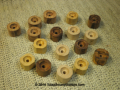 roughed-out knobs